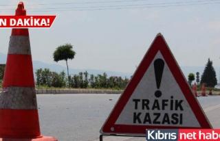 Lefkoşa- Güzelyurt anayolunda trafik kazası: 5...