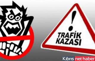 Lefkoşa- Mağusa Anayolunda trafik kazası