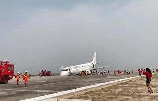 Yolcu uçağı burun üstü iniş yaptı