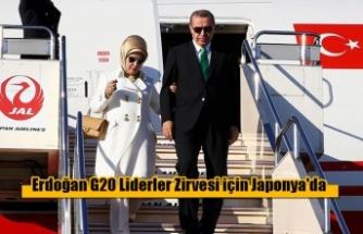 Erdoğan G20 Liderler Zirvesi için Japonya'da