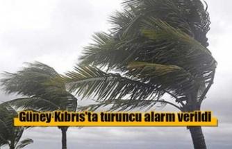 Güney Kıbrıs'ta turuncu alarm verildi