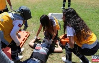 LAÜ'de acil müdahale ve kurtarma etkinliği yapıldı