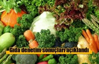 Gıda denetim sonuçları açıklandı