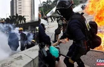 Hong Kong'da ortalık feci şekilde karıştı