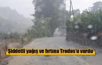 Trodos'ta yoğun yağış