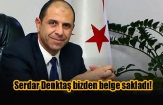 Özersay: Serdar Denktaş bizden belge sakladı!