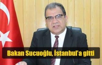 Bakan Sucuoğlu, İstanbul'a gitti
