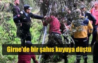Girne'de bir şahıs kuyuya düştü