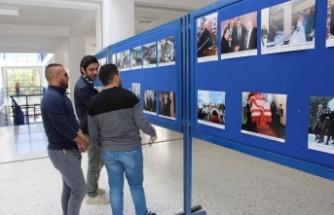 """LAÜ'de """"Kıbrıs Türkü'nün Mücadele Bayrağını Açan Liderlere Saygı"""" sergisi açıldı"""
