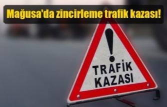 Mağusa'da trafik kazası! 6 araç hasar gördü