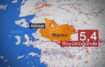 Manisa'da 5,4 büyüklüğünde deprem!
