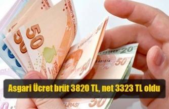 Asgari Ücret brüt 3820 TL, net 3323 TL oldu