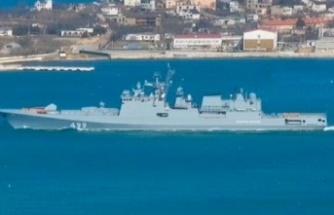 İki Rus gemisi Akdeniz'e indi