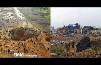 Bir anda dev çukur oluştu! 70 ev yıkıldı