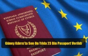 Güney Kıbrıs'ta Son On Yılda 23 Bin Pasaport Verildi