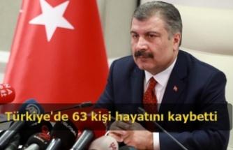 Türkiye'de 63 kişi hayatını kaybetti