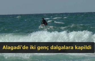 Alagadi'de iki genç dalgalara kapildi