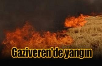 Gaziveren'de yangın
