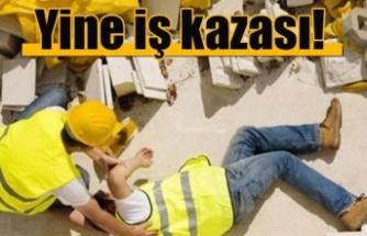 Girne'de iş kazası: 1 yaralı!