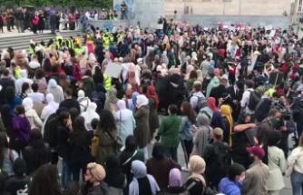 Belçika'da başörtüsü protesto edildi