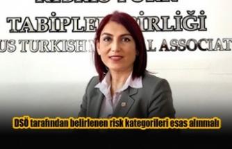 DSÖ tarafından belirlenen risk kategorileri esas alınmalı