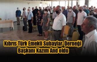 Kıbrıs Türk Emekli Subaylar  Derneği Başkanı Kazım And oldu