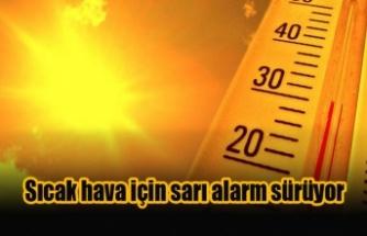 Sıcak hava için sarı alarm sürüyor