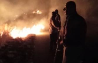 İskele'de korkutan yangın