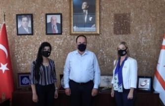 İskele Sahil Lions Kulübü, Sadıkoğlu'nu Ziyaret Etti