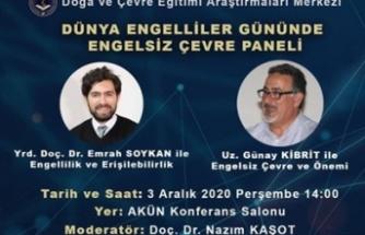 """Akdeniz Karpaz Üniversitesi, """"Engelsiz Çevre"""" paneli düzenliyor"""
