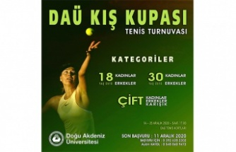 DAÜ kış kupası tenis turnuvası 14-25 Aralık'ta yapılacak