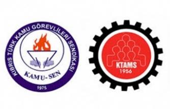 KTAMS ve KAMUSEN Lefkoşa Vergi Dairesi'nde grev yapıyor