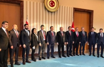 Başbakan Saner, TBMM Başkanı Şentop'a nezaket ziyaretinde bulundu