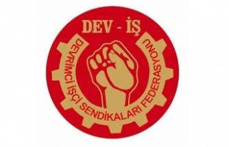DEV-İŞ'ten Kıbrıs Türk Toplu Taşımacılar Birliği eylemine destek
