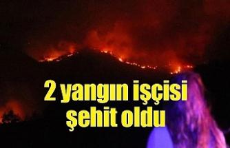 Manavgat'taki yangında 2 yangın işçisi şehit oldu