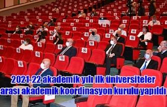 2021-22 akademik yılı ilk üniversiteler arası akademik koordinasyon kurulu yapıldı