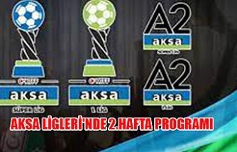 AKSA Ligleri'nde 2.hafta programı