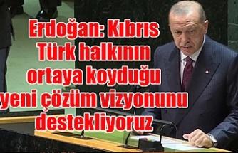 Erdoğan: Kıbrıs Türk halkının ortaya koyduğu yeni çözüm vizyonunu destekliyoruz