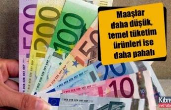 Güney Kıbrıs'ta, AB ortalamalarına göre maaşlar daha düşük