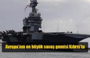 """""""Charles De Gaulle"""" Limasol limanına demirledi"""