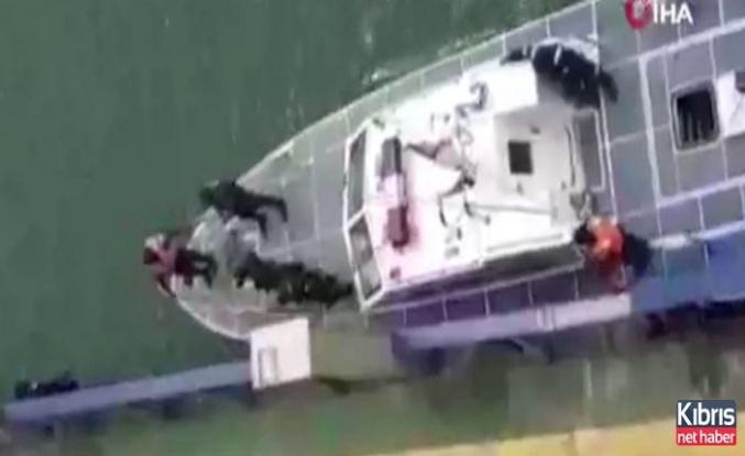 Saldırıya uğrayan Türk gemisinden yeni görüntüler