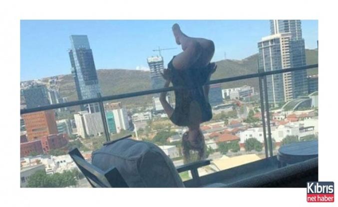 Yoga yaparken balkondan uçtu