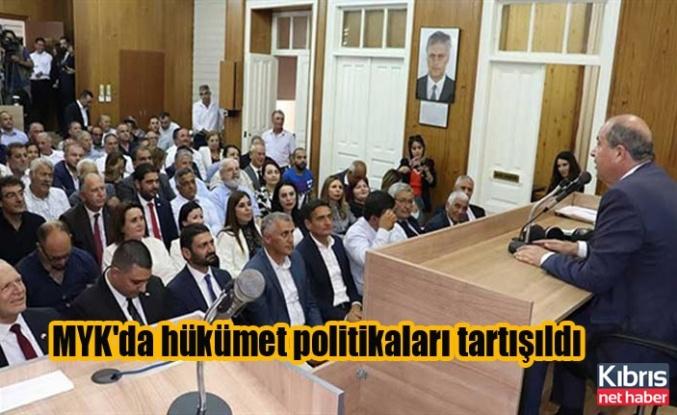 MYK'da hükümet politikaları tartışıldı