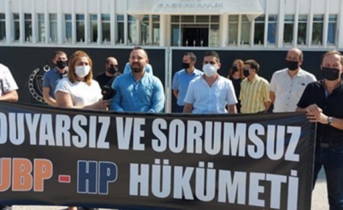 KTAMS Başbakanlık önünde eylem yaptı... grev devam edecek