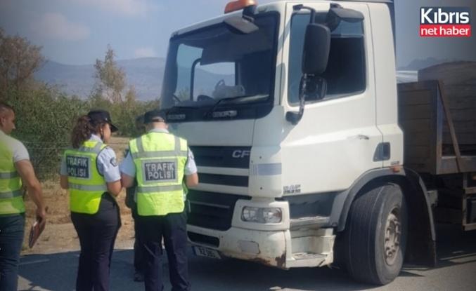 Değirmenlik-Çatalköy yolunda ağır vasıta denetimi yapıldı