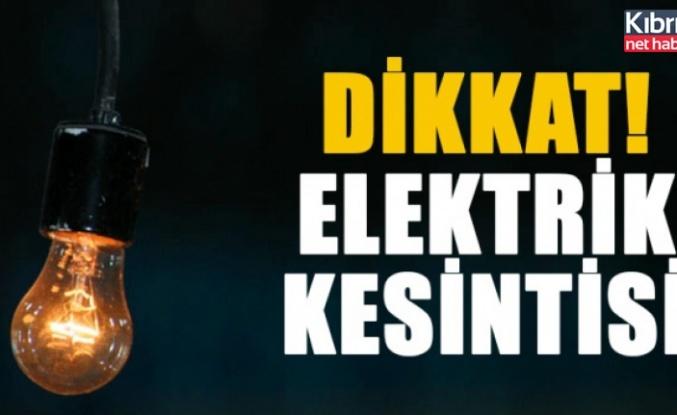 Yedidalga bölgesinde yarın elektrik kesintisi olacak