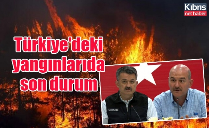 Türkiye'deki yangınlarında son durum