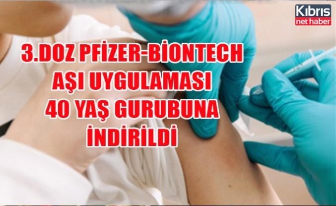 3.Doz Pfizer-BioNTech aşı uygulaması 40 yaş gurubuna indirildi