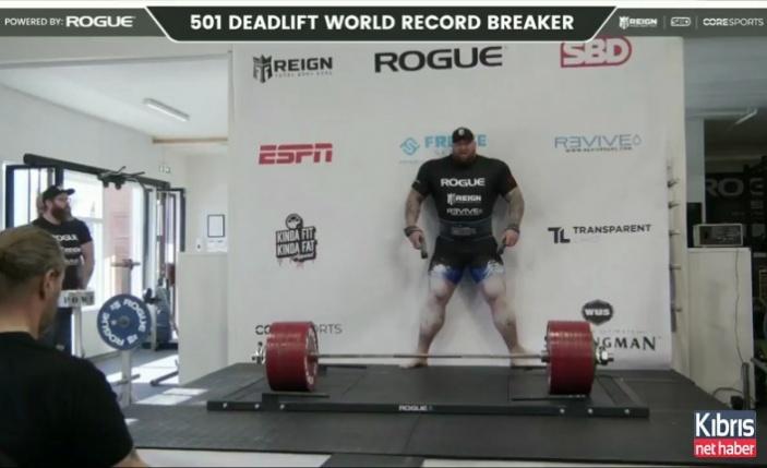 Game of Thrones'un 'Dağ'ı 501 kilo kaldırdı!
