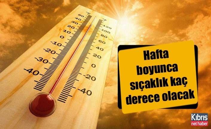 Hava sıcaklığı hafta boyunca 38-41 derece